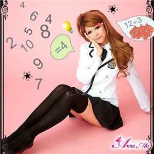 コスプレ 2012年新作 白ブレザーのキュート女子高生制服 コスチューム/z909/衣装