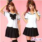コスプレ 2012年新作 モノトーンセーラー服/女子高生制服 コスチューム/z910/衣装