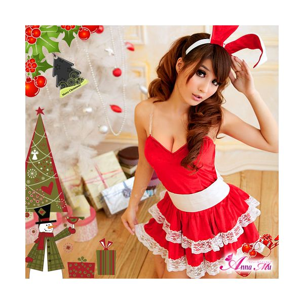クリスマス☆サンタクロースコスプレセット/コスチューム/s006