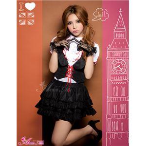 コスプレ 制服 セーラー服 z1158 コスチューム 衣装 黒 白 赤 - 拡大画像
