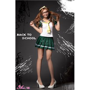 コスプレ セーラー服 コスチューム 衣装 z1163 メイド服 白 緑 - 拡大画像