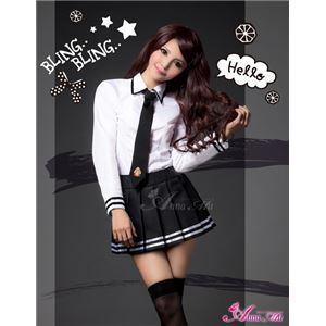 セーラー服 制服 女子高生 長袖 白 黒 z1166 コスプレ 衣装 コスチューム - 拡大画像