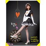 メイド服 コスプレ ウェイトレス 黒 白 z1173 コスチューム 衣装