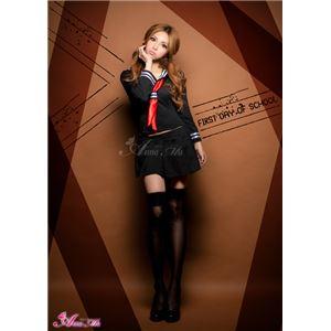 セーラー服 制服 女子高生 長袖 赤 黒 z1184 コスプレ 衣装 コスチューム - 拡大画像