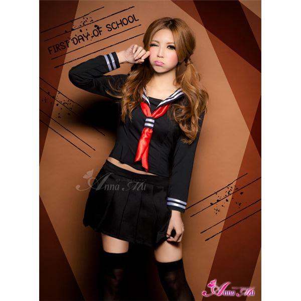 セーラー服 制服 女子高生 長袖 赤 黒 z1184