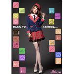 セーラー服 制服 女子高校生 紺 赤 チェック z1210 コスプレ 衣装 コスチューム