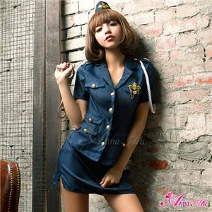 z1343 ポリス 婦人警官 コスプレ衣装 通販 - 拡大画像