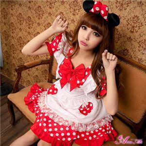 z1345 ミニーちゃん風 メイド ディズニー Disney コスプレ衣装 通販 - 拡大画像