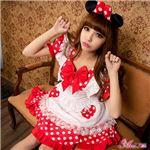 z1345 ミニーちゃん風 メイド ディズニー Disney コスプレ衣装 通販の写真