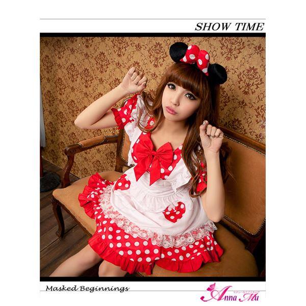 z1345 ミニーちゃん風 メイド ディズニー Disney コスプレ衣装 通販