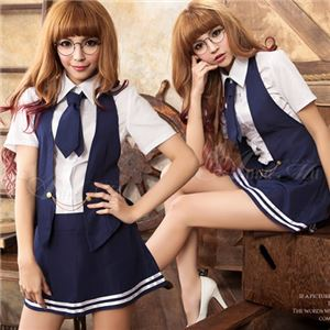 z1370 女子高生 制服 セーラー服 ブレザー コスプレ衣装 通販 - 拡大画像