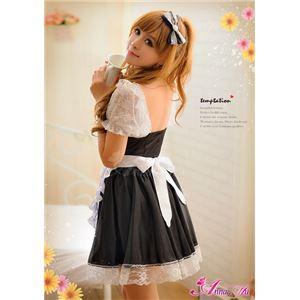 z1416 メイド服 コスプレ 黒 エプロン フリル コスチューム 衣装 仮装 コスプレ衣