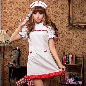 【ナース】z1342/コスチューム/コスプレ衣装/ハロウィン/制服/ナース服/看護婦/白衣/ミニスカ