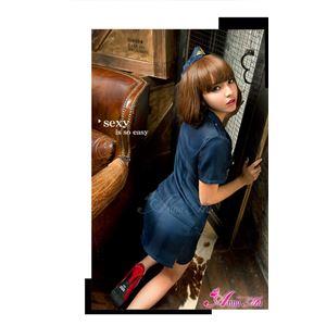 【ポリス】z1343/コスチューム/コスプレ衣装/ハロウィン/制服/警察/婦人警官/警察官/ミニスカ の画像
