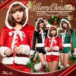 【サンタ】s023/コスチューム/コスプレ衣装/クリスマス/制服/サンタ衣装 s023bk カラー:ブラック