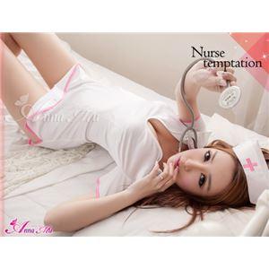 【ナース】z1442/コスチューム/コスプレ衣装/ハロウィン/制服/ナース服/看護婦/白衣/ミニスカ の画像