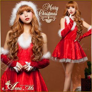 コスプレ コスチューム ドレス ワンピース s025 赤 ファー