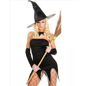 コスプレ コスチューム 衣装 仮装 デビル コスチューム 悪魔 魔女 魔法使い 大人 ワンピース wb011 黒