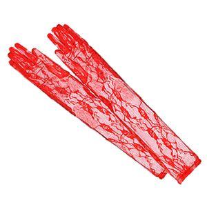 コスプレ コスチューム アイテム グローブ レース 赤 手袋 z1438 - 拡大画像