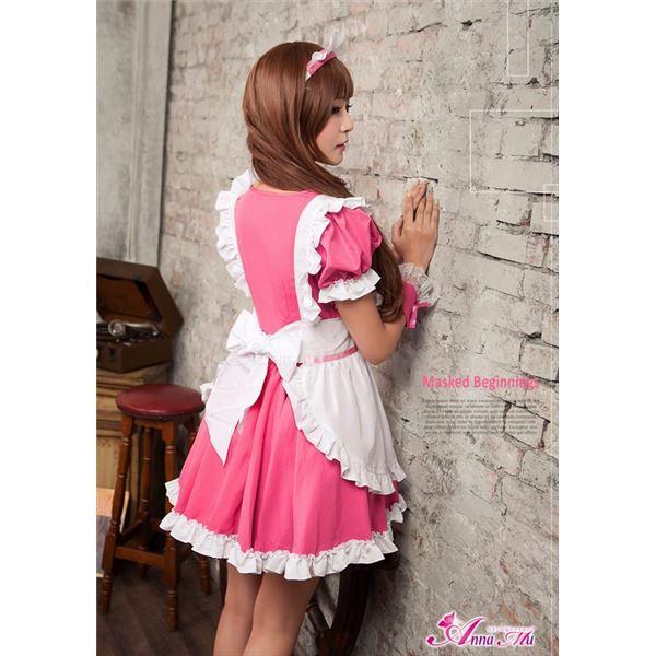 ピンクメイド服コスプレ ゴスロリ・ロリータz1538