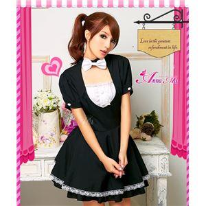 コスプレ コスチューム メイド服 メイド衣装 メイドコスチューム ウェイトレス 仮装 z668 黒
