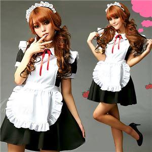 コスプレ コスチューム メイド服 メイド衣装 メイドコスチューム z680 黒