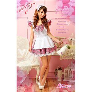 コスプレ コスチューム メイド服 メイド衣装 メイドコスチューム z698 ピンク チェック