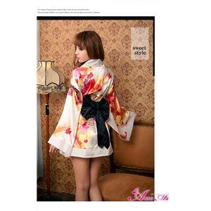コスプレ コスチューム 着物 振袖 和服 和装 花魁 白 花C128W 和風コスチューム