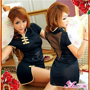 コスプレ コスチューム チャイナドレス チャイナ服 黒 z1132