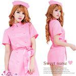 コスプレ コスチューム ナース ナース服 看護婦 ピンク の画像