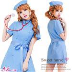 コスプレ コスチューム ナース ナース服 看護婦 ブルーの画像