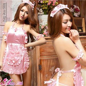 コスプレ コスチューム エプロン メイド衣装 メイドコスチューム z1791 ピンク