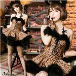 コスプレ コスチューム アニマル 猫耳 レオパード 豹柄 ねこみみ アニマルの画像