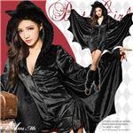 ハロウィン コスプレ デビル コウモリ こうもり 悪魔 ブラック コスチューム コスプレ衣装 セット 全身 ペア セクシー変装 仮装の画像