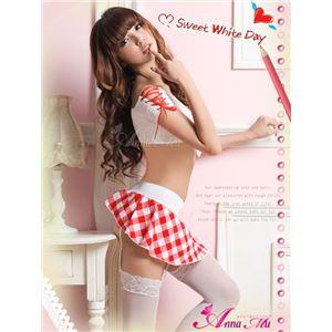 コスプレ コスチューム 女子高制服 制服 学生服 セーラー服 z434 赤 チェック の画像