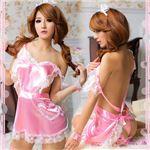 コスプレ コスチューム メイド服 メイド衣装 メイドコスチューム z494 ピンクの画像