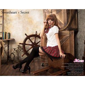 コスプレ コスチューム 女子高制服 制服 学生服 セーラー服 2点 z683 赤 チェックブレザーセーラー服 の画像
