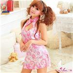 コスプレ コスチューム チャイナドレス チャイナ服 ピンク z885