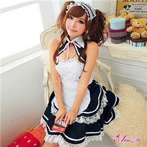 コスプレ コスチューム メイド服 メイド衣装 メイドコスチューム ウェイトレス 仮装 z956 黒 白