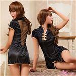 コスプレ ランジェリー コスチューム チャイナドレス チャイナ服 黒 z1132 の画像