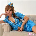 コスプレ ランジェリー コスチューム CA スチュワーデス 制服 z1546 青 水色 衣装