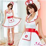 コスプレ ランジェリー コスチューム ナース ナース服 看護婦 z2162 赤 白