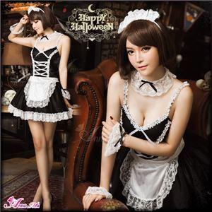 コスプレ ランジェリー コスチューム メイド服 メイド衣装 メイドコスチューム 制服 z623 黒 メイド の画像