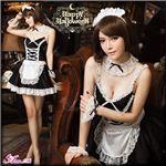 コスプレ ランジェリー コスチューム メイド服 メイド衣装 メイドコスチューム 制服 z623 黒 メイド