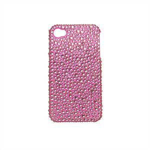 UVCoatingCasefor iphone4/4S用 スマートフォンケース ライトローズランダムmixFullDeco(ピンク) - 拡大画像