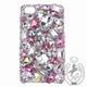 iPhone 4S/4 Case Big 3D Jewel クリスタル&オーロラ&Lローズ スマホカバービッグジュエル付き - 縮小画像1