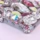 iPhone 4S/4 Case Big 3D Jewel クリスタル&オーロラ&Lローズ スマホカバービッグジュエル付き - 縮小画像4