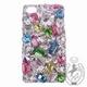 iPhone 4S/4 Case Big 3D Jewel スプリングカラーMix スマホカバービッグジュエル付き - 縮小画像1
