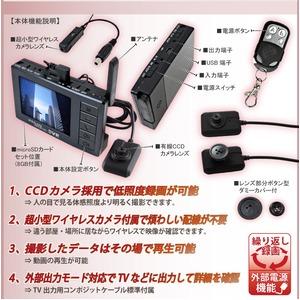 【防犯用】【小型カメラ】新ワイヤレス(無線)対応 2.4インチ液晶モニター付デジタルカメラ+超小型ワイヤレスカメラ(セット) スパイダーズX(Basic Bb-623)(新無線Angel Eye) ★SanDisk8GB(Class4)microSDカード付★
