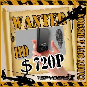 【防犯用】【超小型カメラ】 【小型ビデオカメラ】充電器型 ムービーカメラ スパイダーズX (A-600αB/ブラック)H.264 動体検知 長時間録画